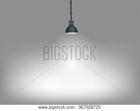White Light Illuminating The Surrounding Space, Terrain. A Powerful Ceiling Illuminating The Show, S