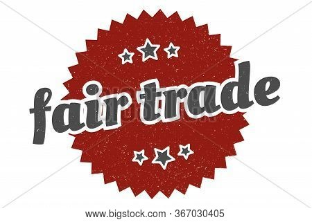 Fair Trade Sign. Fair Trade Round Vintage Retro Label. Fair Trade