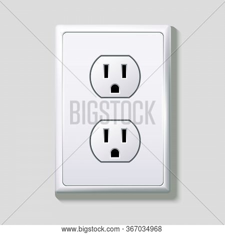 Electrical Sockets. Receptacle From Usa. Vector Illustration