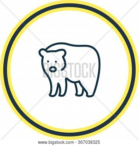 Vector Illustration Of Bear Icon Line. Beautiful Zoology Element Also Can Be Used As Grizzly Icon El