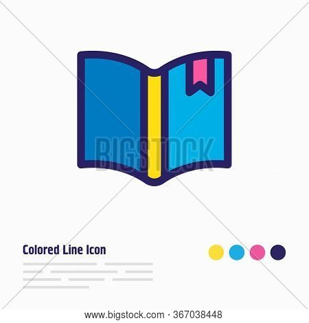 Illustration Of Bookmarking Icon Colored Line. Beautiful Read Element Also Can Be Used As Read Icon