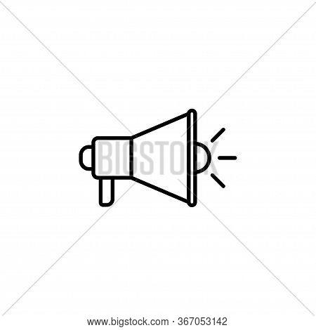 Megaphone Icon Isolated On White Background. Megaphone Icon In Trendy Design Style. Megaphone Vector