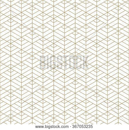 Seamless Geometric Pattern Inspired By Japanese Kumiko Ornament.for Template,fabric,textile,wrapping