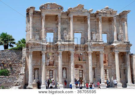 Celsius library in Efesus near Izmir, Turkey. poster