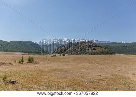 Summer View Of Altai, Russia. Altai Republic Is One Of Russia's Ethnic Republics.