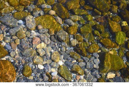 Abstract Background With Pebbles - Round Sea Stones