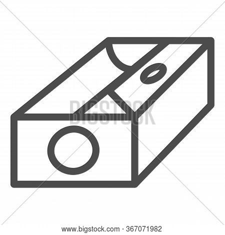 Sharpener Line Icon, Stationery Concept, Device For Sharpening Pencil Sign On White Background, Penc