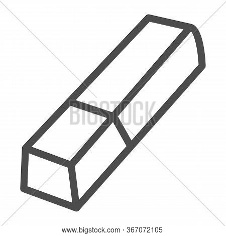 Eraser Line Icon, Stationery Concept, Tool For Correct Or Edit Drawing Vector Sign On White Backgrou