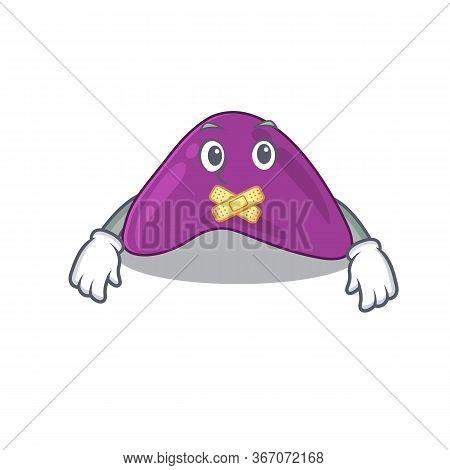 Adrenal Cartoon Character Style Having Strange Silent Face