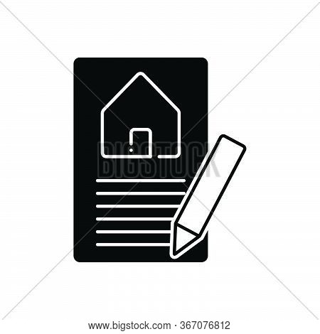 Black Solid Icon For Property-valuation Property Home Real-estatevaluation Appraisal Insurance