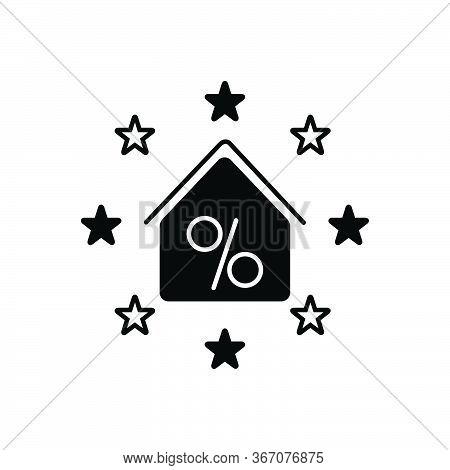 Black Solid Icon For Real-estate-discount Real Estate Discount Exemption Concession Property