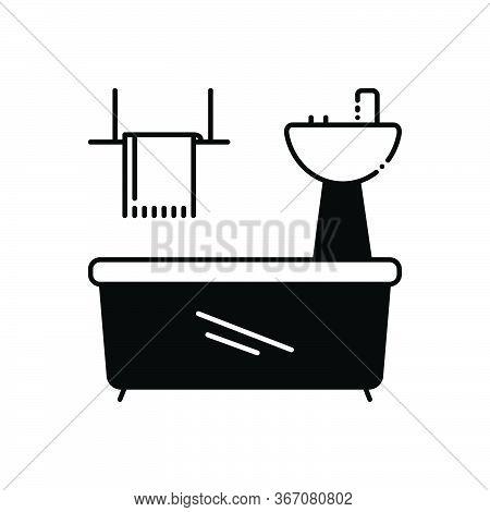 Black Solid Icon For Bathroom-appliances Bathroom Appliances Plumbing Towel