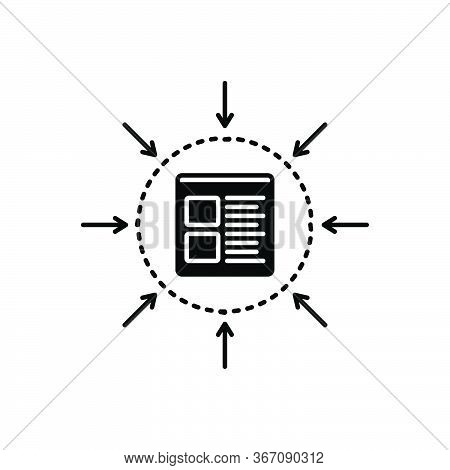 Black Solid Icon For Specification Management Specific Monochrome