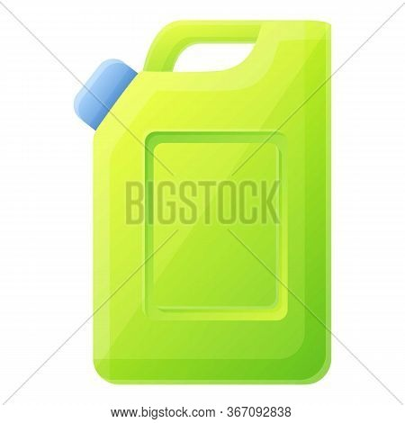 Green Canister Icon. Cartoon Of Green Canister Vector Icon For Web Design Isolated On White Backgrou
