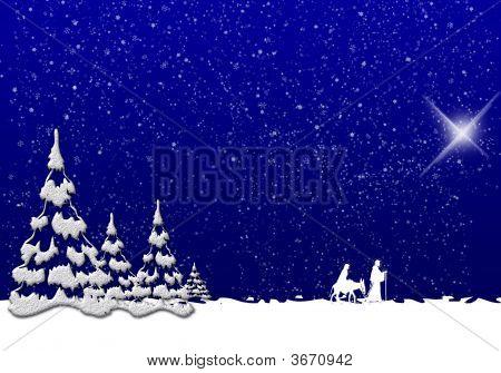 Winter Christmas Scene