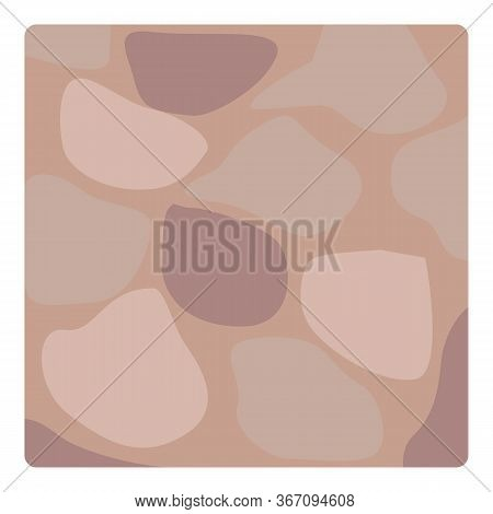Stone Deck Paving Icon. Cartoon Of Stone Deck Paving Vector Icon For Web Design Isolated On White Ba