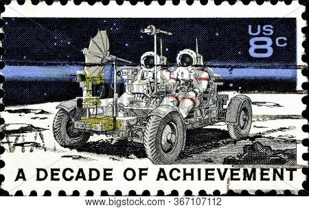 02.09.2020 Divnoe Stavropol Territory Russia Postage Stamp United States 1971 United States In Space