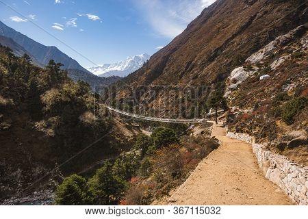Way To Everest Base Camp. Sagarmatha National Park, Nepal