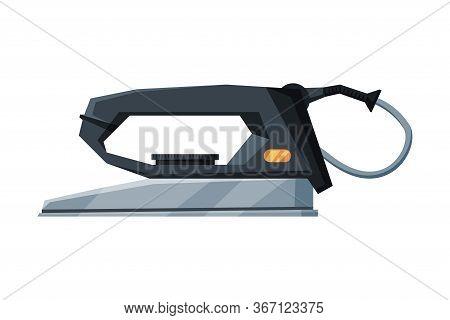 Retro Electric Iron Household Appliance, Ironing Equipment Vector Illustration