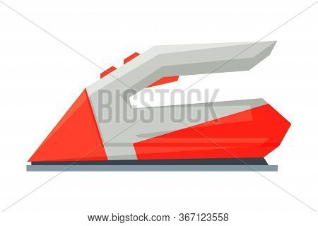 Wireless Iron Household Appliance, Ironing Clothes Device Vector Illustration