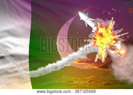 Strategic Rocket Destroyed In Air, Pakistan Supersonic Missile Protection Concept - Missile Defense