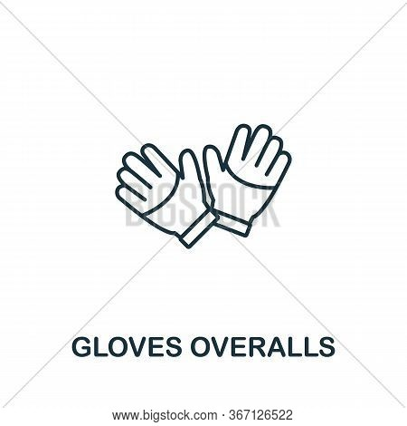 Gloves Overalls Icon From Work Safety Collection. Simple Line Element Gloves Overalls Symbol For Tem