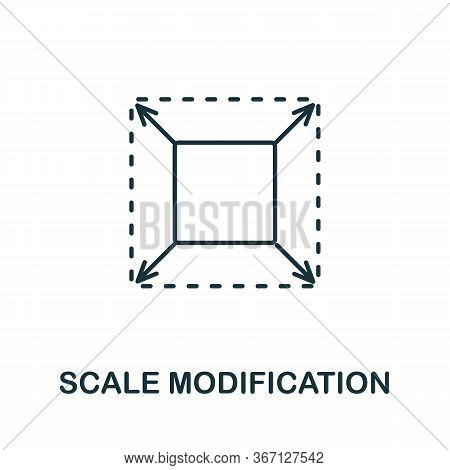 Scale Modification Icon From 3d Printing Collection. Simple Line Scale Modification Icon For Templat