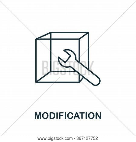 Modification Icon From 3d Printing Collection. Simple Line Modification Icon For Templates, Web Desi