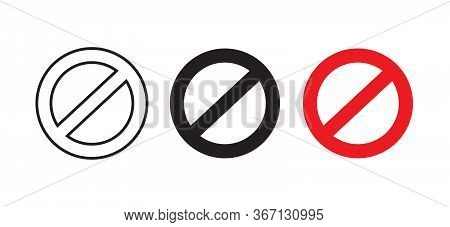 Stop Symbol Icon Images. Not Allowed Sign Vector