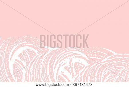 Grunge Texture. Distress Pink Rough Trace. Grand Background. Noise Dirty Grunge Texture. Appealing A