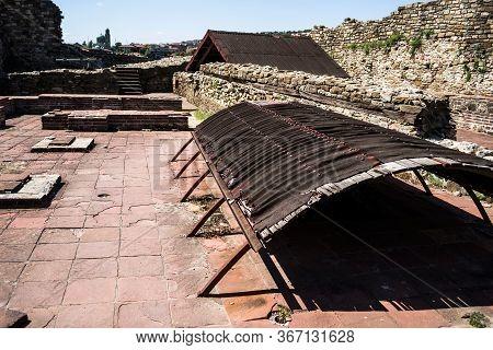 Veliko Tarnovo, Bulgaria - August 31, 2019: The Famous Sightseeing Tsarevets Fortress, Veliko Tarnov