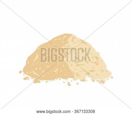 Soy Powder Flour. Soy Flour. Vector Illustration