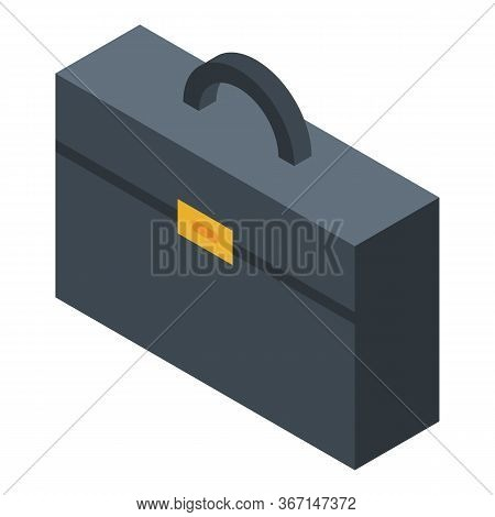 Business Suitcase Icon. Isometric Of Business Suitcase Vector Icon For Web Design Isolated On White