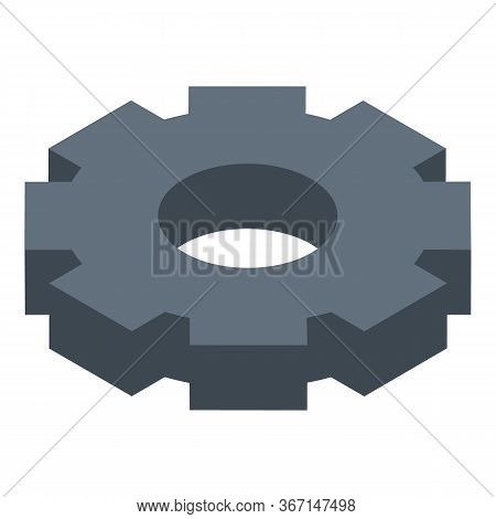 Mechanism Gear Icon. Isometric Of Mechanism Gear Vector Icon For Web Design Isolated On White Backgr