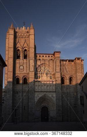 Main Door Of The Avilas's Cathedral (west Door)