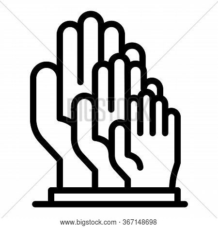 Sociology Hands Icon. Outline Sociology Hands Vector Icon For Web Design Isolated On White Backgroun