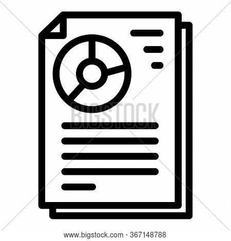 Sociology Pie Chart Icon. Outline Sociology Pie Chart Vector Icon For Web Design Isolated On White B