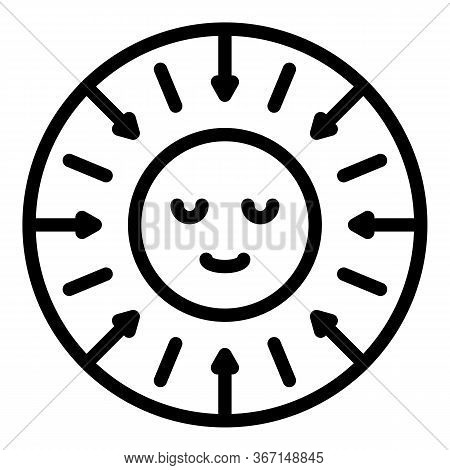 Sociology Smile Direction Icon. Outline Sociology Smile Direction Vector Icon For Web Design Isolate