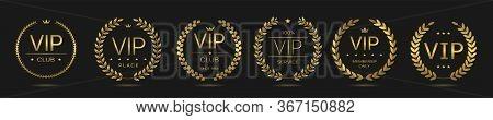 Luxury, Prestige Products And Vip Labels. Golden Laurel Wreath Set