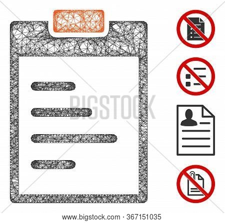Mesh Pad Text Web Icon Vector Illustration. Carcass Model Is Based On Pad Text Flat Icon. Mesh Forms