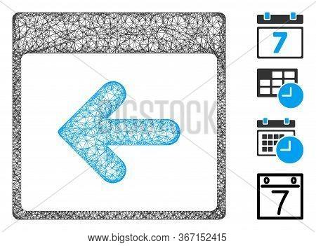 Mesh Previous Calendar Day Web 2d Vector Illustration. Model Is Based On Previous Calendar Day Flat