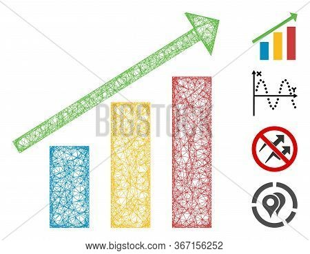 Mesh Trend Web 2d Vector Illustration. Abstraction Is Based On Trend Flat Icon. Network Forms Abstra