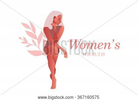 Urinary Incontinence, Cystitis, Involuntary Urination Woman Vector Illustration. Bladder Problems. M