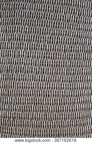 Wicker Or Rattan Basket Texture. Background Of Basket Surface. Pattern Background. Wooden Vine Wicke