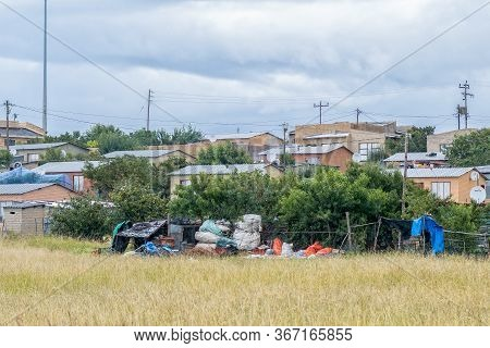 Fouriesburg, South Africa - March 20, 2020: View Of The Mashaeng Township In Fouriesburg. Houses Are