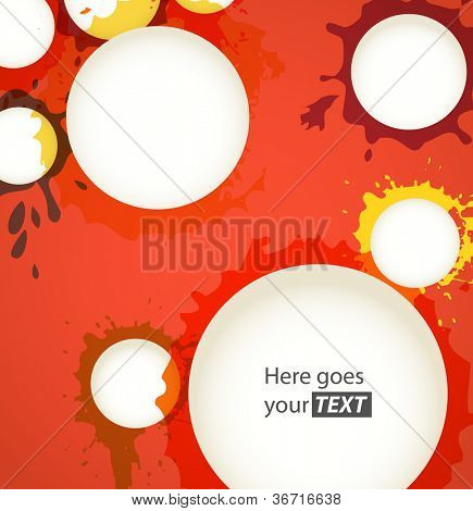 Color ink blots speech clouds abstract background poster