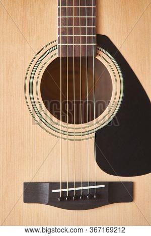 Acoustic Guitar. Musical Instrument. Fretboard Acoustic Guitar
