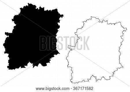 Essonne Department (france, French Republic, Ile-de-france Region) Map Vector Illustration, Scribble