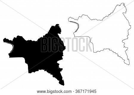 Seine-saint-denis Department (france, French Republic, Ile-de-france Region) Map Vector Illustration