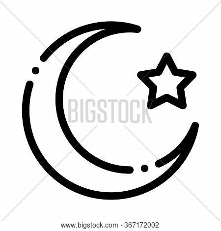 Special Lunar Year Of Hajj Icon Vector. Special Lunar Year Of Hajj Sign. Isolated Contour Symbol Ill